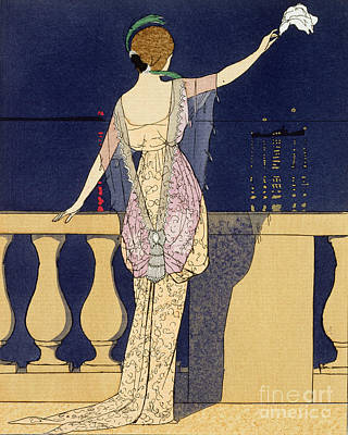 Stylish Painting - Farewell At Night by Georges Barbier