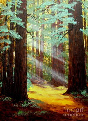 Sun Rays Painting - Farewell  Bend         by Shasta Eone