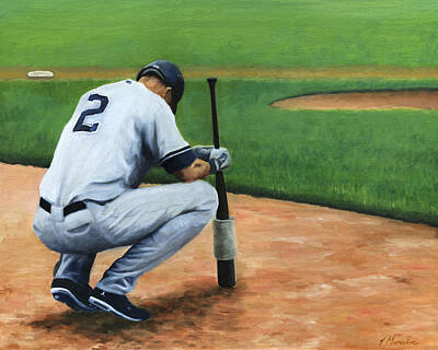 Yankee Stadium Painting - Farewell Captain by Joe Maracic