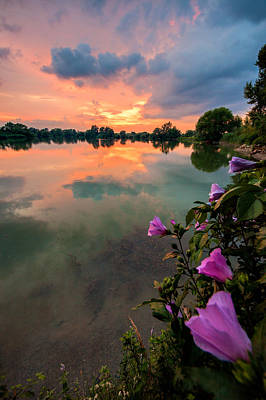 Waterscape Photograph - Farewell From The Sun by Davorin Mance