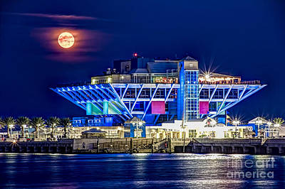 St. Petersburg Photograph - Farewell Moon by Marvin Spates