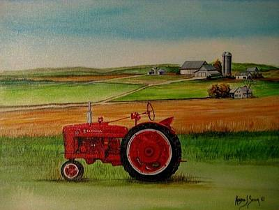 Painting - Farm All Tractor by Kendra Sorum