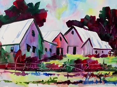 Farm Along Meridian Road Art Print
