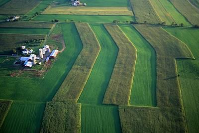 Crop Rotation Wall Art - Photograph - Farm And Field Design Aerial by Blair Seitz