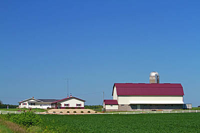 Soybean Photograph - Farm And Soybean Crop North Of Eau by David R. Frazier