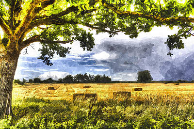Harvesting Digital Art - Farm Art by David Pyatt
