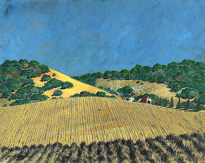 Painting - Farm At Lona Gulch by John Wyckoff