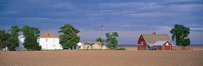 Farm At Sunset, South Ritzville, Route Print by Panoramic Images