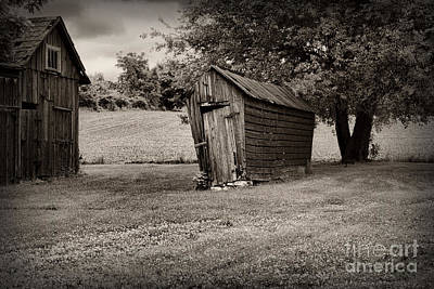 Corn Crib Photograph - Farm - Barn -chicken Coup - Black And White by Paul Ward