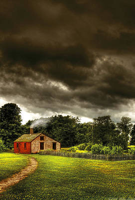 Photograph - Farm - Barn - Storms A Comin by Mike Savad