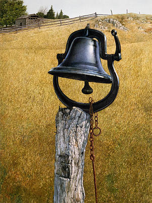 Art Print featuring the painting Farm Bell by Tom Wooldridge