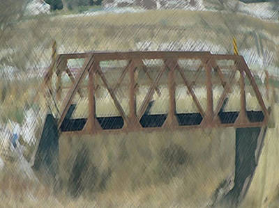 Painting - Farm Bridge by Dennis Buckman