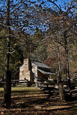 Photograph - Farm Cabin Cades Cove Tennessee by Douglas Barnett
