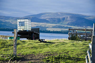 Photograph - Farm Cart On Loch Fleet Scotland by Sally Ross