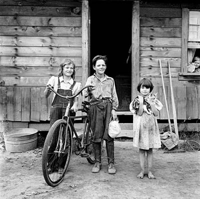 Photograph - Farm Children, 1939 by Granger