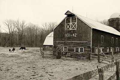 Country Scene Photograph - Farm Days In Black And White by Paul Ward