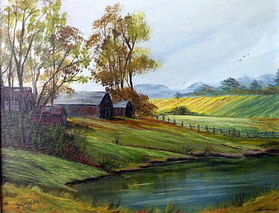 Art Print featuring the painting Farm by Dorothy Maier