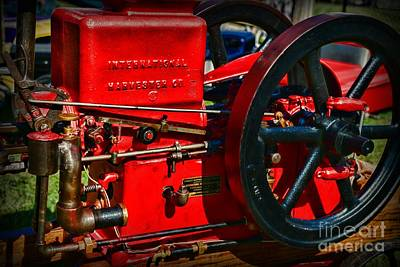Farm Equipment - International Harvester Feed And Cob Mill Art Print