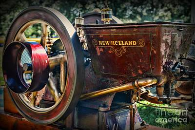 Farm Equipment - New Holland Feed And Cob Mill Art Print
