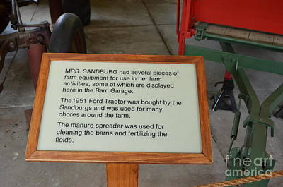 Photograph - Mrs. Sandburgs Farm Equipment by Bob Sample