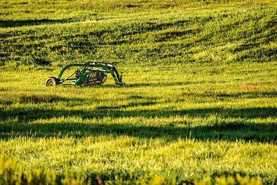 Photograph - Farm Equipment In A Field by  Onyonet  Photo Studios