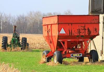 Photograph - Farm Equipment In Ohio by Dan Sproul