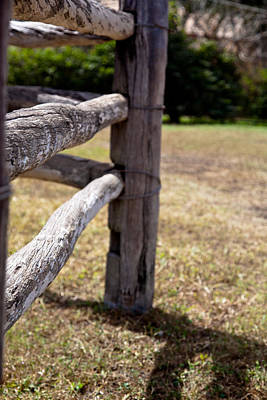 Photograph - Farm Fence Post by Carole Hinding