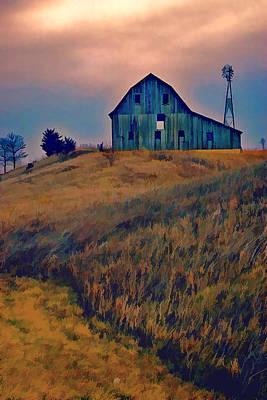 Farm Field And Gathering Storm Art Print