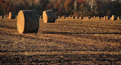 Hay October Photograph - Farm Fields In October by Dan Sproul