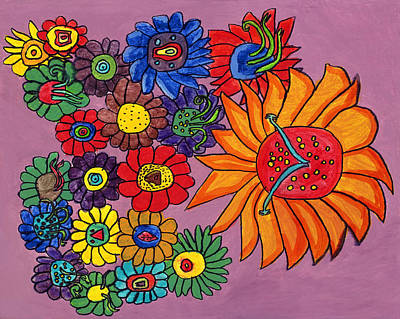 Drucker Painting - Farm Flower by Artists With Autism Inc