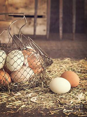 Farm Fresh Eggs Art Print by Edward Fielding