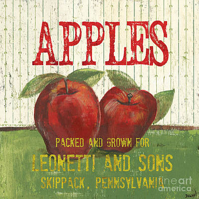 Apple Painting - Farm Fresh Fruit 3 by Debbie DeWitt