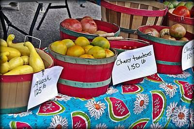 Farm Fresh Produce At The Farmers Market Art Print by JW Hanley