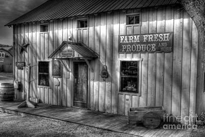 Metamora Photograph - Farm Fresh Produce Bw by Mel Steinhauer