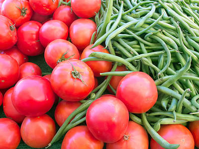 Photograph - Farm Fresh Tomatoes And Beans by Ram Vasudev