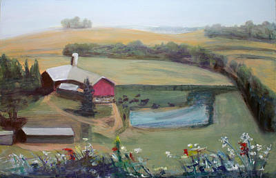 Farm From The Hilltop Original by Randy Bell