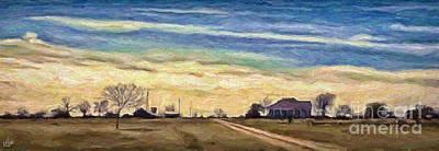 Painting - Farm House 3 by Walt Foegelle