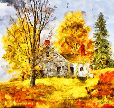 Greek Painting - Farm House by George Rossidis