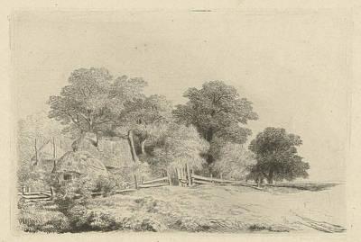 Fence Drawing - Farm In A Fence, Remigius Adrianus Haanen by Artokoloro