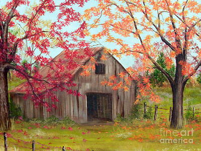 Painting - Farm In Autum by Vivian Cook