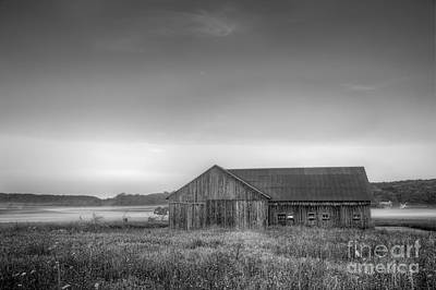 Farm In Black And White Art Print by Twenty Two North Photography