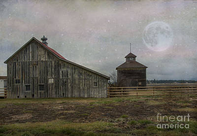 Manipulated Photograph - Farm In Kalispell Montana by Juli Scalzi