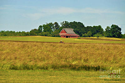 Art Print featuring the photograph Farm In Oregon by Mindy Bench