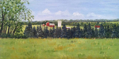 Painting - Farm In Rushland by Margie Perry