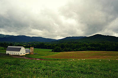 Farm In Swannanoa Nc Art Print