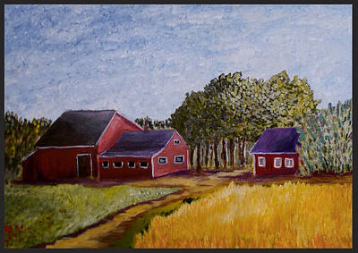 Painting - Farm In Sweden by Zeke Nord