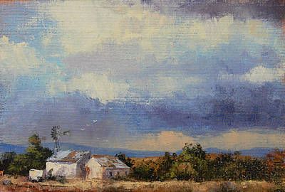Farm In The Karoo Art Print