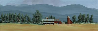 Painting - Farm In The Windbreak by John Wyckoff