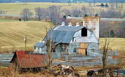 Shed Digital Art - Farm In Virginia by Cynthia Guinn