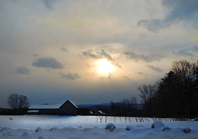 Photograph - Farm In Winter's Dusk by Nancy Griswold